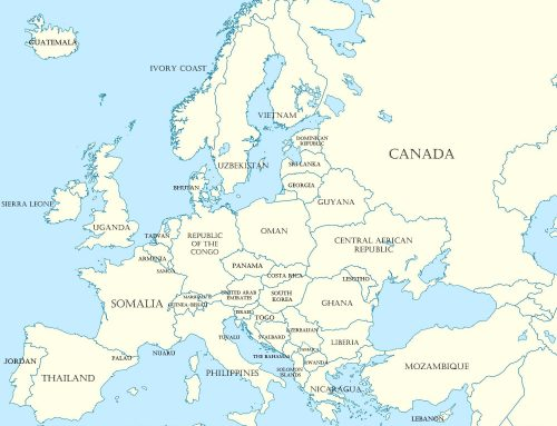 European Countries Replaced by Non-European Land Masses of Similar Size